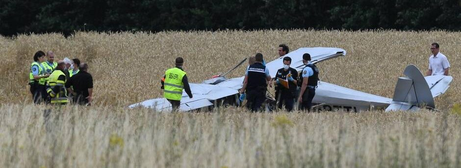 Crash d'un avion de voltige à Marcé